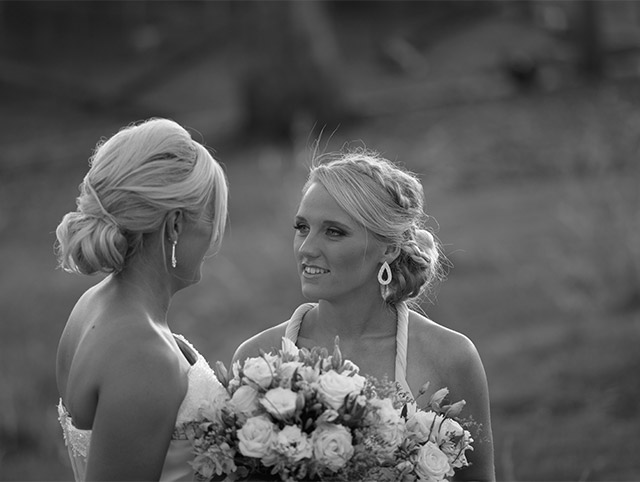Sisters reflection at the wedding