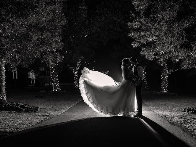 Preston Peak Nightime Lane Way Wedding image